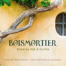 Joseph Bodin de Boismortier (1689-1755): Sonaten für 2 Flöten Nr.1-6, CD