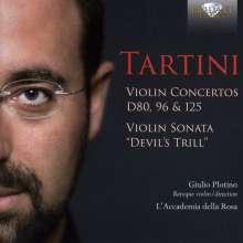 Giuseppe Tartini (1692-1770): Violinkonzerte D.80,96,125, CD