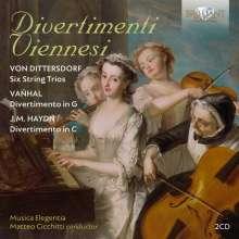 Karl Ditters von Dittersdorf (1739-1799): Streichtrios Nr.1-6, 2 CDs