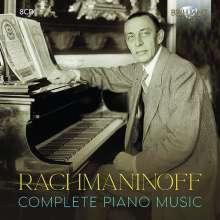 Sergej Rachmaninoff (1873-1943): Sämtliche Klavierwerke, 8 CDs