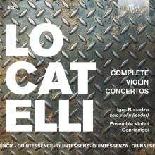 """Pietro Locatelli (1695-1764): Violinkonzerte  op.3 Nr.1-12 """"L'Arte del Violino"""", 5 CDs"""