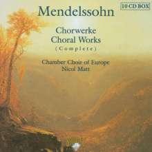 Felix Mendelssohn Bartholdy (1809-1847): Geistliche Chorwerke (Gesamtaufnahme), 10 CDs