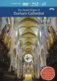 The Grand Organ of Durham Cathedral, 1 Blu-ray Disc, 1 DVD und 1 CD