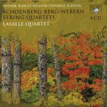 Arnold Schönberg (1874-1951): Streichquartette Nr.1-4, 4 CDs