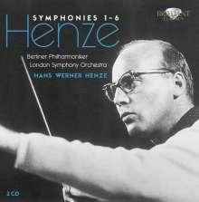 Hans Werner Henze (1926-2012): Symphonien Nr.1-6, 2 CDs