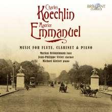 Maurice Emmanuel (1862-1938): Kammermusik für Flöte, Klarinette, Klavier, CD