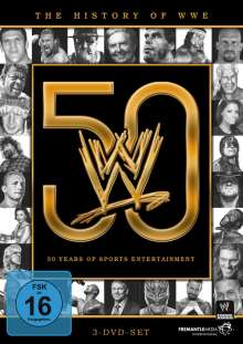 The History of WWE: 50 Years of Sports Entertainment, 3 DVDs