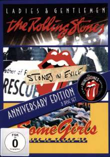The Rolling Stones: 50th Anniversary Edition: Ladies & Gentlemen / Stones In Exile / Some Girls Live In Texas '78, 3 DVDs