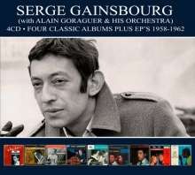 Serge Gainsbourg (1928-1991): Four Classic Albums Plus EPs 1958 - 1962, 4 CDs