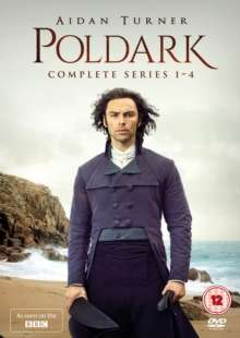 Poldark Season 1-4 (UK Import), 12 DVDs