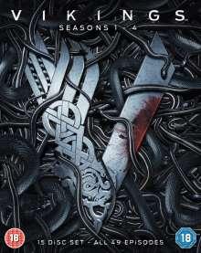 Vikings Season 1-4 (Blu-ray) (UK Import), 15 Blu-ray Discs
