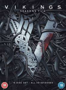 Vikings Season 1-4 (UK Import), 15 DVDs
