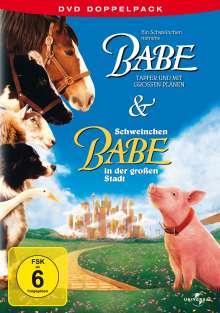 Ein Schweinchen namens Babe + Babe in der großen Stadt, 2 DVDs