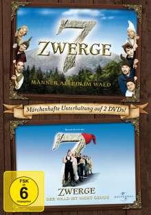7 Zwerge: Männer allein im Wald + Der Wald ist nicht genug, 2 DVDs