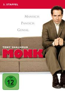 Monk Season 3, 4 DVDs