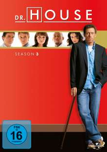 Dr. House Season 3, 6 DVDs