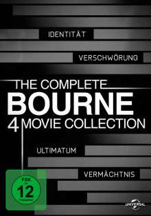 The Complete Bourne 4 Movie Collection, 4 DVDs