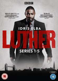 Luther Season 1-5 (UK Import), 9 DVDs