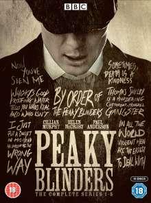 Peaky Blinders Season 1-5 (UK Import), 10 DVDs