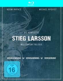 Stieg Larsson Millennium Trilogie (Blu-ray), 3 Blu-ray Discs und 1 DVD
