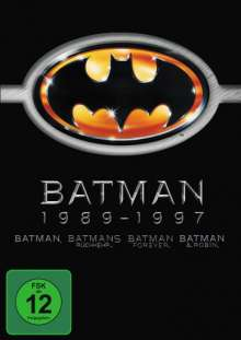 Batman 1-4, 4 DVDs