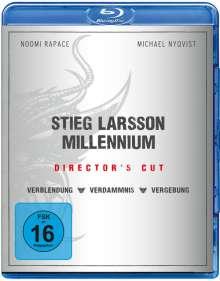 Stieg Larsson Millennium Trilogie (Blu-ray), 3 Blu-ray Discs