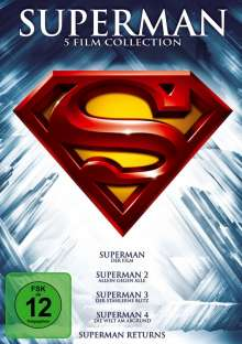 Superman 1-5 (Die Spielfilm Collection), 5 DVDs