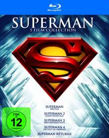 Superman Spielfilm Collection (Blu-ray), 5 Blu-ray Discs