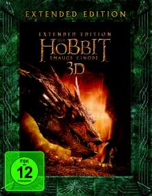 Der Hobbit: Smaugs Einöde (Extended Edition) (3D & 2D Blu-ray), 5 Blu-ray Discs