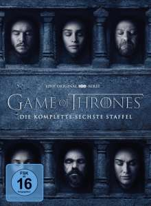 Game of Thrones Season 6, 5 DVDs