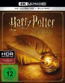 Harry Potter Complete Collection (8 Filme) (Ultra HD Blu-ray & Blu-ray), 8 Ultra HD Blu-rays und 8 Blu-ray Discs