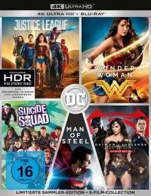 DC 5-Film-Collection (Ultra HD Blu-ray & Blu-ray), 5 Ultra HD Blu-rays und 7 Blu-ray Discs