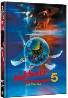 Nightmare on Elm Street 5: Das Trauma (Blu-ray & DVD im wattierten Mediabook), 1 Blu-ray Disc und 1 DVD