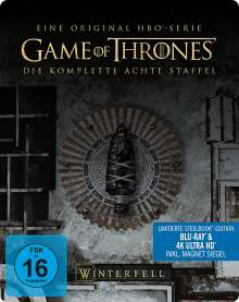Game of Thrones Season 8 (finale Staffel) (Ultra HD Blu-ray & Blu-ray im Steelbook), 3 Ultra HD Blu-rays und 3 Blu-ray Discs