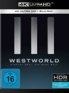 Westworld Staffel 3 (Ultra HD Blu-ray & Blu-ray), 3 Ultra HD Blu-rays und 3 Blu-ray Discs