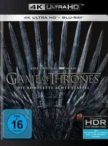 Game of Thrones Season 8 (finale Staffel) (Ultra HD Blu-ray & Blu-ray), 3 Ultra HD Blu-rays und 3 Blu-ray Discs
