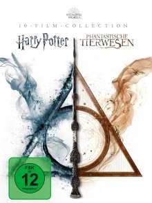 Wizarding World (Harry Potter & Phantastische Tierwesen) (10-Film Collection) (Blu-ray), 10 Blu-ray Discs