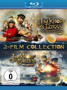 Jim Knopf & Lukas der Lokomotivführer / Jim Knopf und die Wilde 13 (Blu-ray), 2 Blu-ray Discs