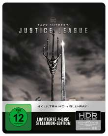 Zack Snyder's Justice League (Ultra HD Blu-ray & Blu-ray im Steelbook), 2 Ultra HD Blu-rays und 2 Blu-ray Discs