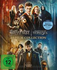 Wizarding World (Harry Potter & Phantastische Tierwesen) (10-Film Collection) (Jubiläumsedition) (Blu-ray), 11 Blu-ray Discs