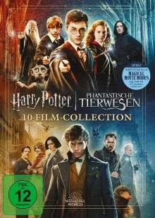 Wizarding World (Harry Potter & Phantastische Tierwesen) (10-Film Collection) (Jubiläumsedition), 11 DVDs
