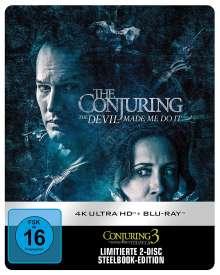 Conjuring 3: Im Bann des Teufels (Ultra HD Blu-ray & Blu-ray im Steelbook), 1 Ultra HD Blu-ray und 1 Blu-ray Disc