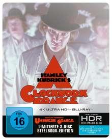 Uhrwerk Orange (Ultra HD Blu-ray & Blu-ray im Steelbook), 1 Ultra HD Blu-ray und 2 Blu-ray Discs
