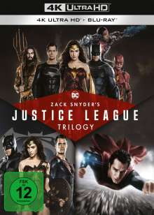 Zack Snyder's Justice League Trilogy (Ultra HD Blu-ray & Blu-ray), 4 Ultra HD Blu-rays und 4 Blu-ray Discs