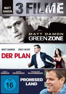 Matt Damon: 3-Movie-Set, 3 DVDs