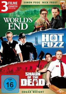 Cornetto Trilogie: The World's End / Hot Fuzz / Shaun of the Dead, 3 DVDs