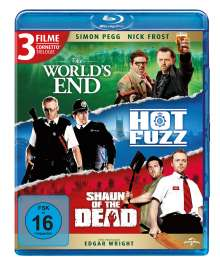 Cornetto Trilogie: The World's End / Hot Fuzz / Shaun of the Dead (Blu-ray), 3 Blu-ray Discs