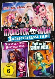 Monster High - 3 monsterkrasse Filme, 3 DVDs