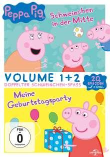 Peppa Pig: Schweinchen in der Mitte / Meine Geburtstagsparty, 2 DVDs