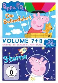 Peppa Pig Vol. 7 & 8: Die Ballonfahrt / Sterne, 2 DVDs